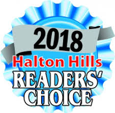 2018 Halton Hillls Reader's Choice Award